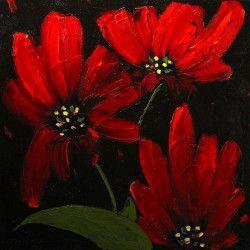 Tablou Canvas Red 1342 70 x 70 cm Rama lemn Multicolor Tablouri