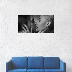 Tablou Canvas Senzual kiss Girls 20 x 40 cm Tablouri