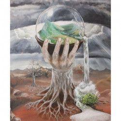 Tablou Canvas Suprarealism Copac 60 x 72 cm Multicolor