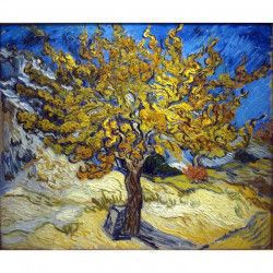 Tablou Canvas The Mulberry Tree reproducere Vincent van Gogh 72 x 60 cm Rama lemn Multicolor Tablouri
