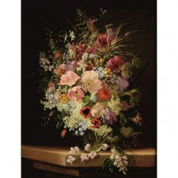 Tablou Canvas Vaza cu flori 80 x 60 cm Rama lemn Multicolor Tablouri