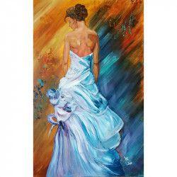 Tablou Canvas Voaluri 50 x 80 cm Rama lemn Multicolor Tablouri