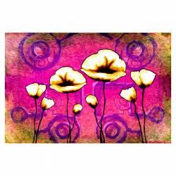 Tablou Arlata Word Mag Flori Maci Rama Lemn Multicolor 120x80 Tablouri