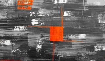 Tablou Canvas Abstract Orange 80 x 50 cm Rama lemn Multicolor Tablouri