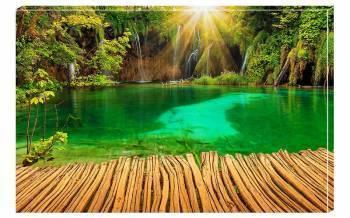 Tablou Canvas Lacul Verde - 95x65cm Tablouri