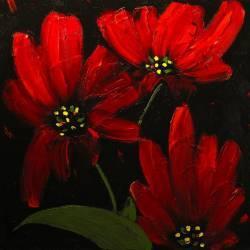Tablou Canvas Red 70 x 70 cm Rama lemn Multicolor Tablouri