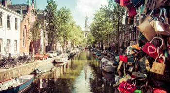 Tablou Canvas Summer in Amsterdam 95 x 65 cm Tablouri