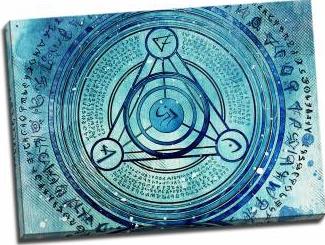 Tablou pe aluminiu striat Blue Zodiac Tablouri
