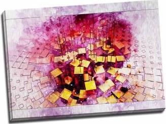 Tablou pe aluminiu striat Playing Cubes Tablouri