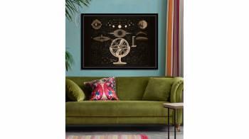 Tablou pe metal striat aramiu BOLDER-ATLAS BY BROCKHAUS Tablouri