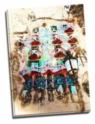 Tablou pe metal striat Casa Batllo Tablouri
