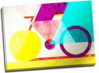Tablou pe metal striat Coloured Geometry Tablouri