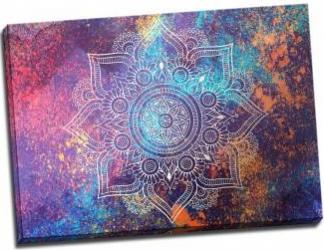 Tablou pe metal striat Cosmic Mandala Tablouri