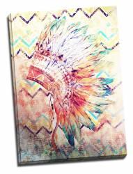 Tablou pe metal striat Indian Feathers Tablouri
