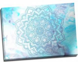 Tablou pe metal striat Mandala in the Blue Sky Tablouri