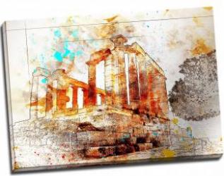 Tablou pe metal striat Temple of Poseidon Tablouri