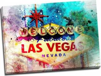 Tablou pe metal striat Welcome to Las Vegas Tablouri
