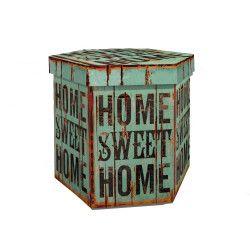 Taburet pliabil cu spatiu de depozitare Home Sweet Home 48 x 38 x 38 cm