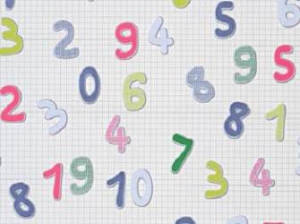 Tapet Lidas lavabil vinil pentru camera copiilor sau domitor 329-10 Cifre Tapet
