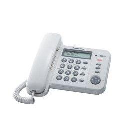 Telefon analogic Panasonic KX-TS560FXW Alb Caller ID Telefoane