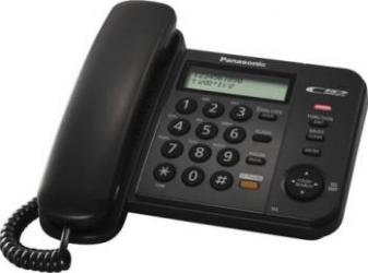 Telefon analogic Panasonic KX-TS580FXB Negru Telefoane