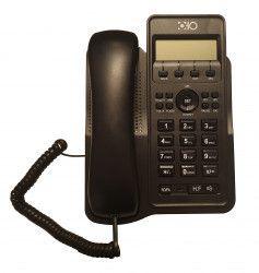 Telefon Cu Fir De Birou Afisaj LCD Caller ID Ceas Functie Hold Negru