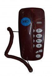Telefon Cu Fir OHO 580 De Perete Sau Birou Functie Mute Pause Redial Flash Visiniu