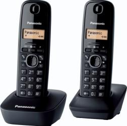 Telefon DECT Panasonic KX-TG1612FXH Acumulator Negru