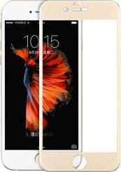 Tempered glass Hoco cu rama din otel inoxidabil pentru iPhone 66s plus gold
