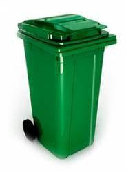 Tomberon gunoi cu roti 240lt verde