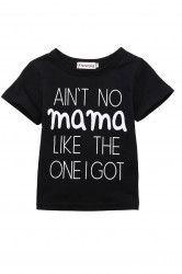 Tricou copil Aint no mama Marime 18M Negru