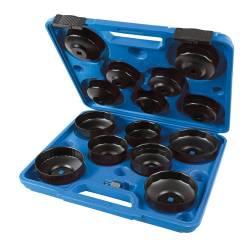 Trusa 15 chei desfacut filtre ulei auto 65 - 93mm Silverline