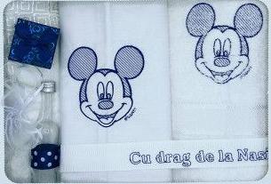 Trusou botez Mickey culoare albastru Articole botez