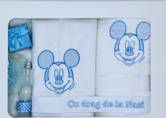 Trusou botez Mickey culoare bleu Articole botez