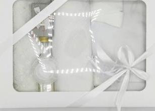 Trusou botez bentița alba in cutie cu capac alb Articole botez