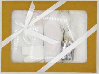 Trusou botez bentița alba in cutie cu capac natur Articole botez