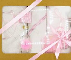 Trusou botez bentița roz in cutie cu capac natur Articole botez