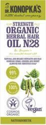 Ulei organic Dr. Konopka No.28, tratament pentru intarirea firului de par 30 ml Masca