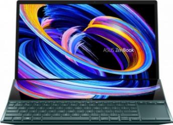 Ultrabook ASUS ZenBook Duo 14 UX482EA Intel Core (11th Gen) i7-1165G7 1TB SSD 16GB Iris Xe FullHD Touch Win10 Pro Tast. ilum. Celestial Blue Laptop laptopuri