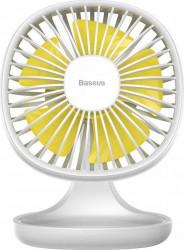 Ventilator Baseus Pudding Shaped Fan USB 5V 1A White Ventilatoare