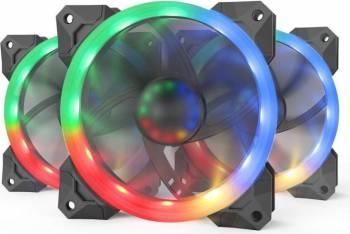 Ventilator Redragon F008 RGB 3 Pack Fan