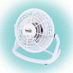 Ventilator de masa cu USB 10 cm alb