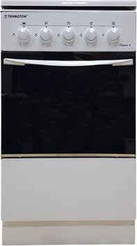 Aragaz Tehnoton, 4 Arzatoare, Cuptor, Dispozitiv Siguranta plita si cuptor, Arzatoare cu eficienta ridicata, Design Clasic, Culoare Alb