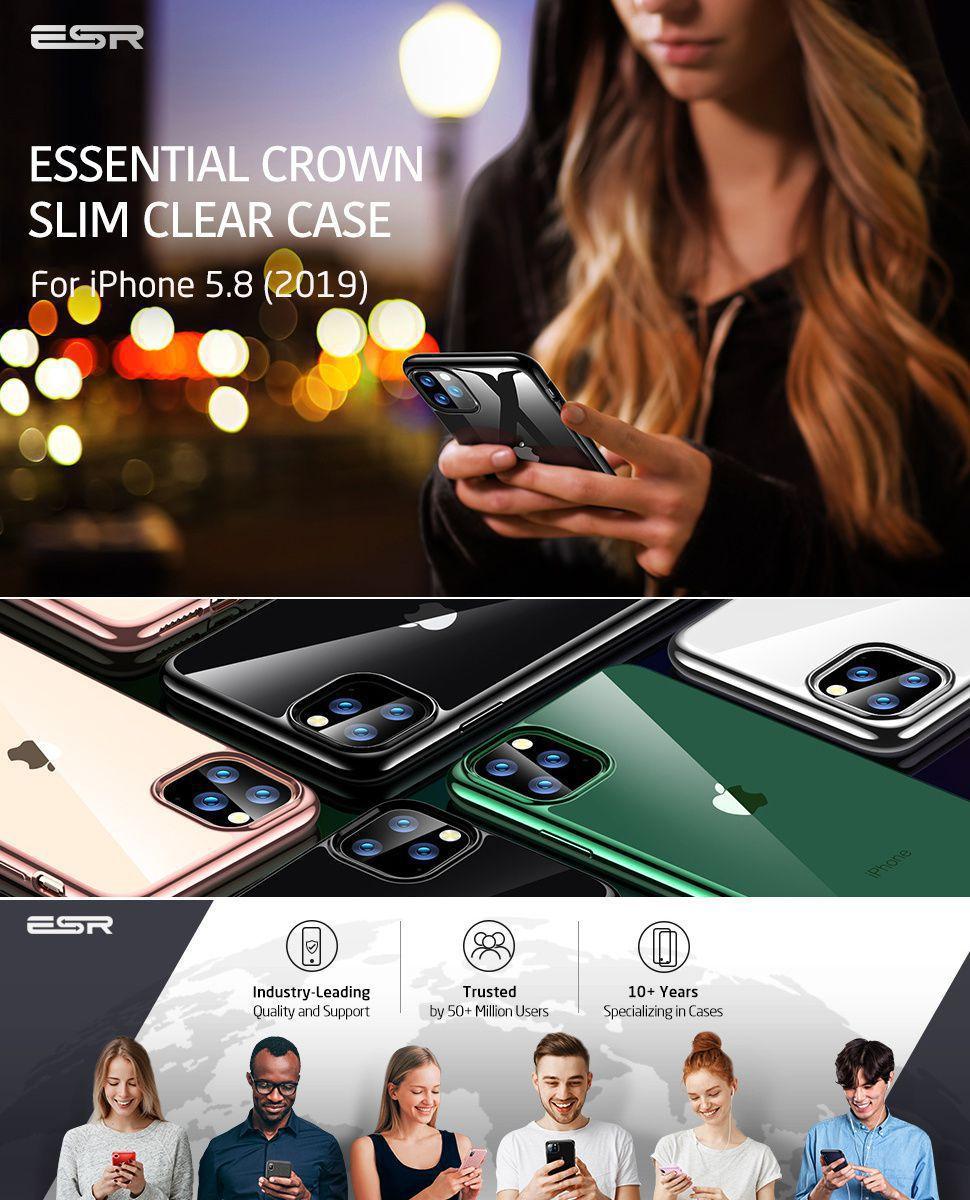 ESR Essential Twinkler slim cover for iPhone 11 Pro, Black Gohub Shop
