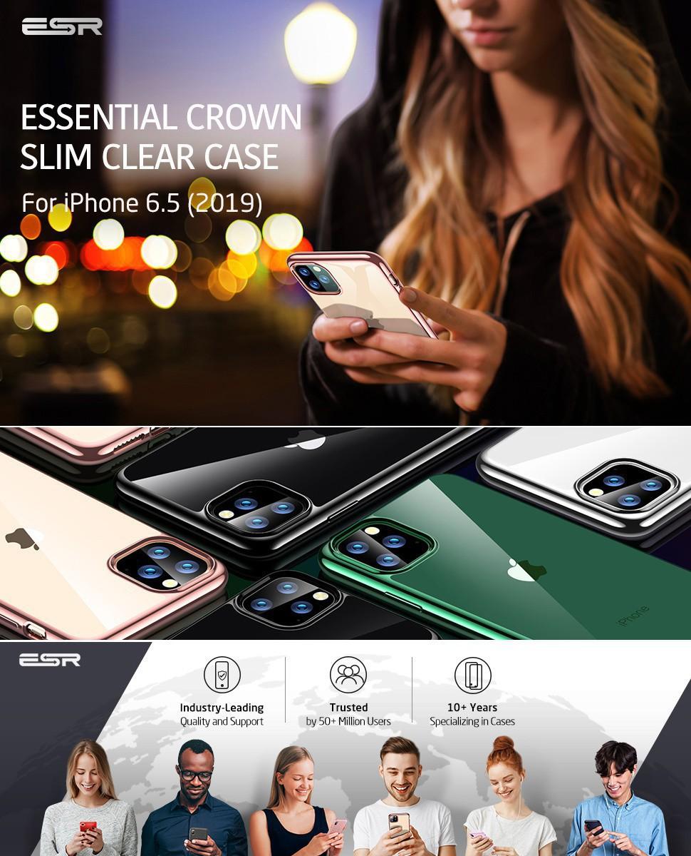 ESR Essential Twinkler slim cover for iPhone 11 Pro Max, Rose Gold Gohub Shop