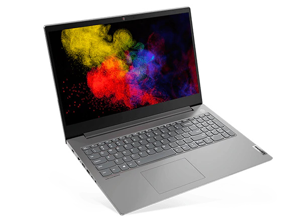 Lenovo ThinkBook 15p front right three-quarter view tilted slightly on its front right corner