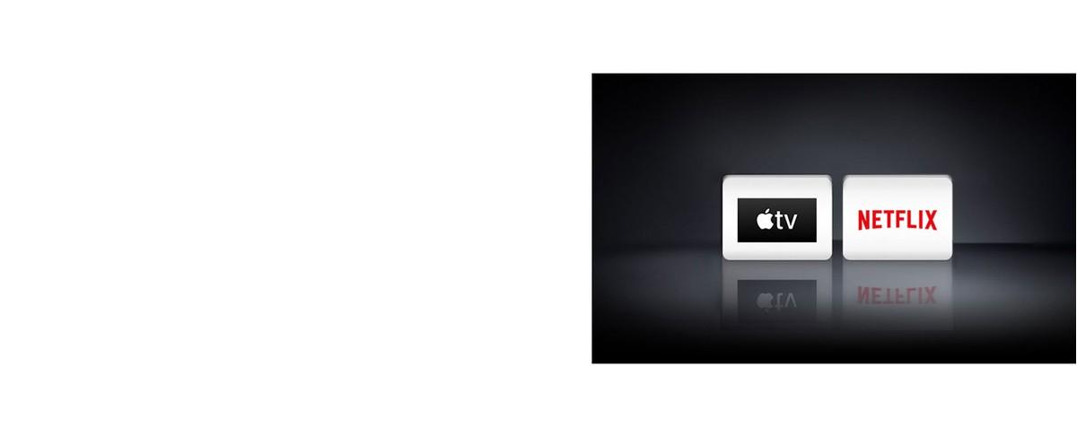 Dva logotipa: aplikacija Apple TV i Netflix
