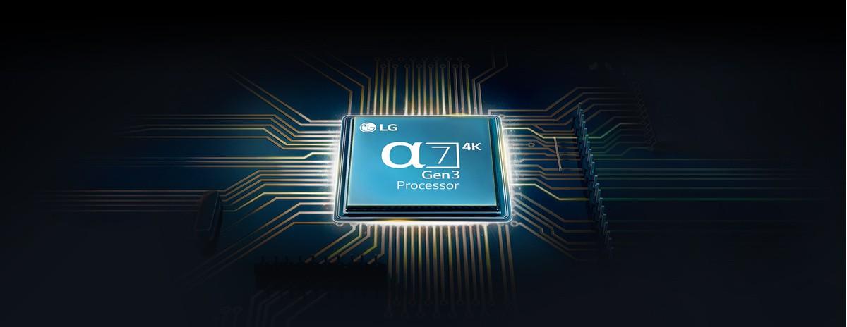 Cip alpha 7 montat pe o placă de bază TV