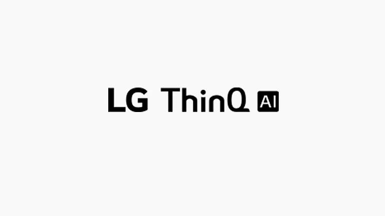 Acest card descrie comenzile vocale. Au fost incluse logourile LG ThinQ AI logo-ul.