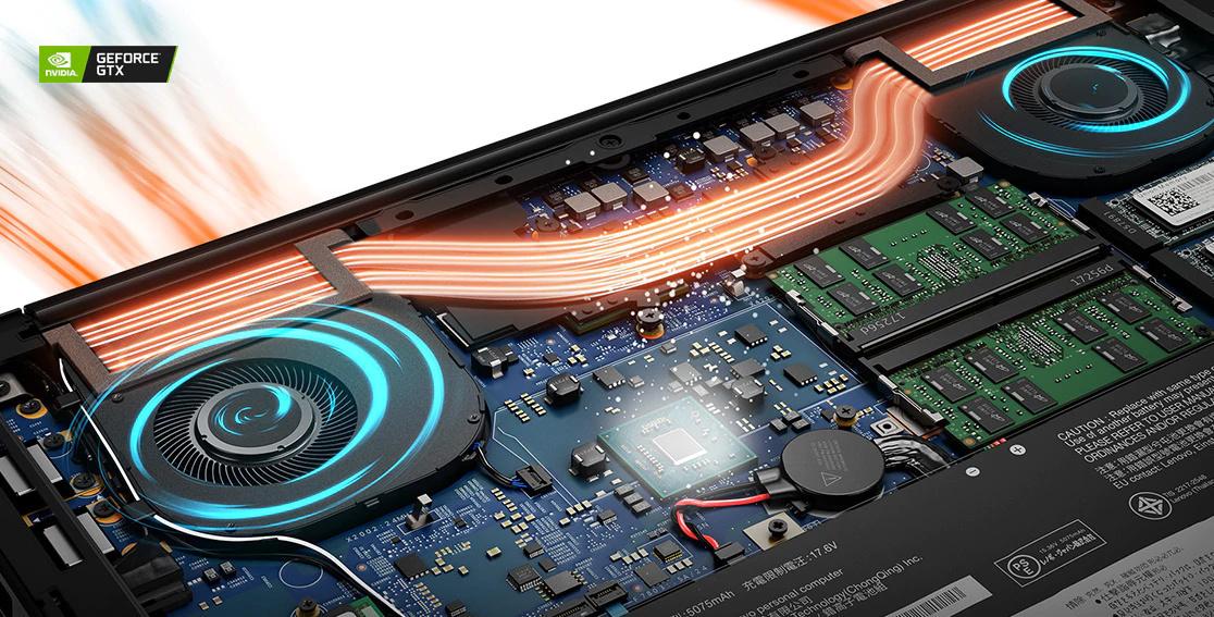 Internal NVIDIA graphics card on Lenovo ThinkPad X1 Extreme Gen 3 laptop..